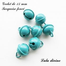 Grelot 15 mm : Turquoise foncé