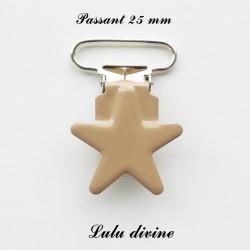 Pince étoile 25 mm Beige