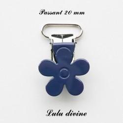 Pince fleur 20 mm Bleu marine