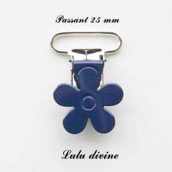 Pince fleur 25 mm Bleu marine