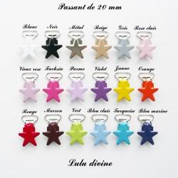 18 pinces étoile 20 mm