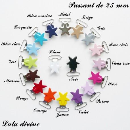 18 pinces étoile 25 mm
