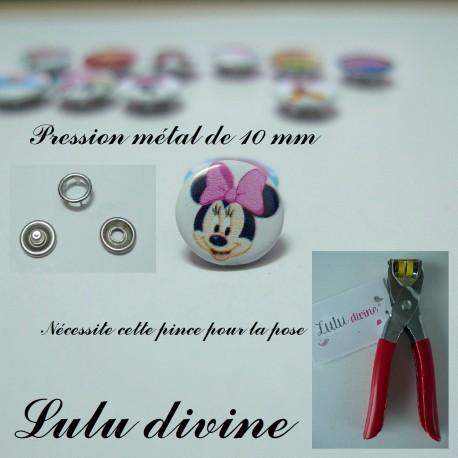 Pression métal : la tête de Minnie
