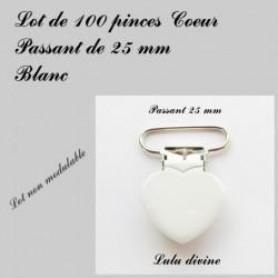 100 pinces coeur 25 mm