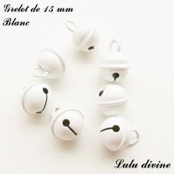 Grelot 15 mm : Blanc