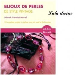 Livre Bijoux de perles de style Vintage