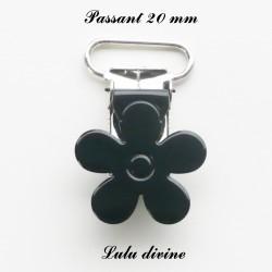 Pince fleur 20 mm Noire