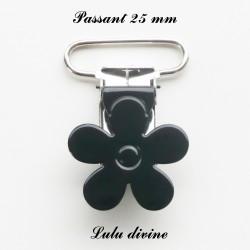 Pince fleur 25 mm noire