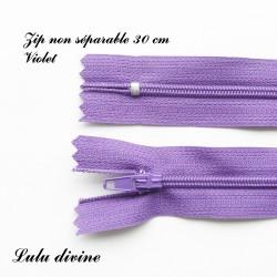 Fermeture éclair 30 cm Violet