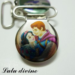 Pince 25 mm : Blanche neige & son prince
