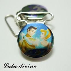 Pince 25 mm : Bleu Princesse Cendrillon & son prince