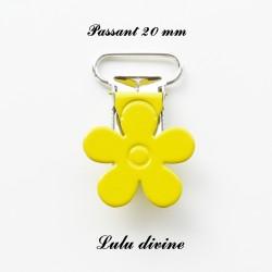 Pince fleur 20 mm Jaune