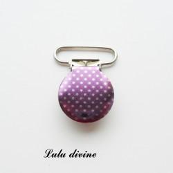 Pince 25 mm : violet poids argentés