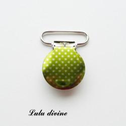 Pince 25 mm : vert clair à petits poids