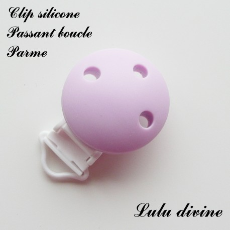 Pince silicone boucle Rond