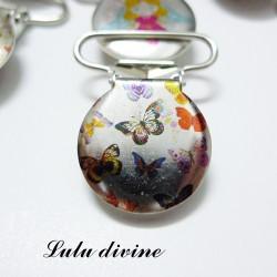 Pince 25 mm : Papillon multicolore