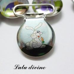 Pince 25 mm : Lapin blanc Alice au pays des merveilles