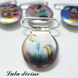 Pince 25 mm : Poney Rainbow Dash