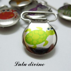 Pince 25 mm : Tortue souriante