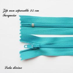 Fermeture éclair simple non séparable de 25 cm : Turquoise