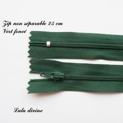 Fermeture éclair simple non séparable de 25 cm : Vert foncéhe