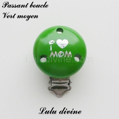 Pince bois boucle I Love Mom
