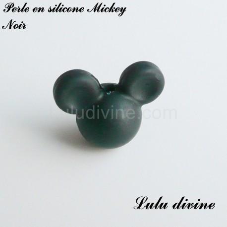 Perle en silicone ronde Mickey
