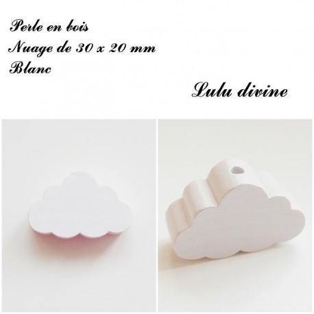 Perle en bois gros nuage