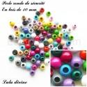 Perle en bois ronde de Sécurité (Lot de 30 perles)