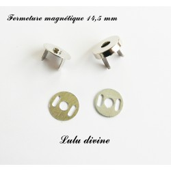 Fermoir aimant Argenté 14.5 mm