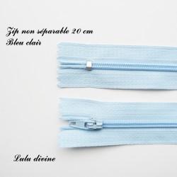 Fermeture éclair 20 cm Bleu clair