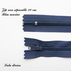 Fermeture éclair 20 cm Bleu marine
