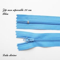 Fermeture éclair 20 cm Bleu