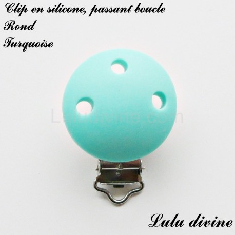 Clip silicone boucle Rond