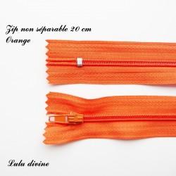 Fermeture éclair 20 cm Orange