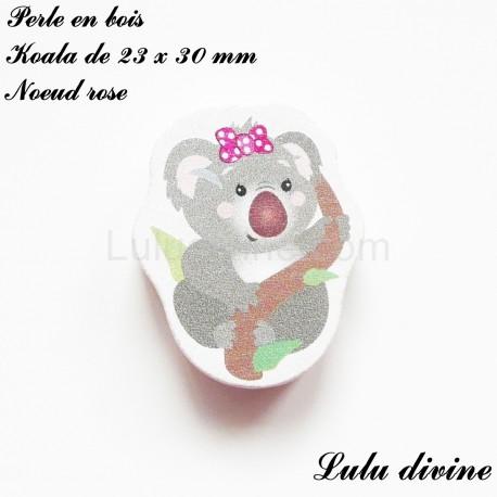 perle en bois koala