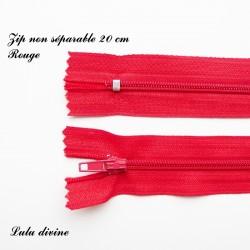Fermeture éclair 20 cm rouge