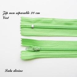 Fermeture éclair 20 cm Vert