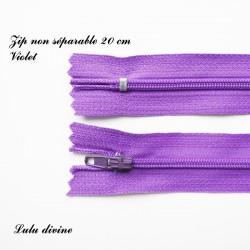 Fermeture éclair 20 cm Violet