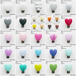 Clip silicone boucle Coeur