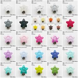 Clip silicone boucle Fleur
