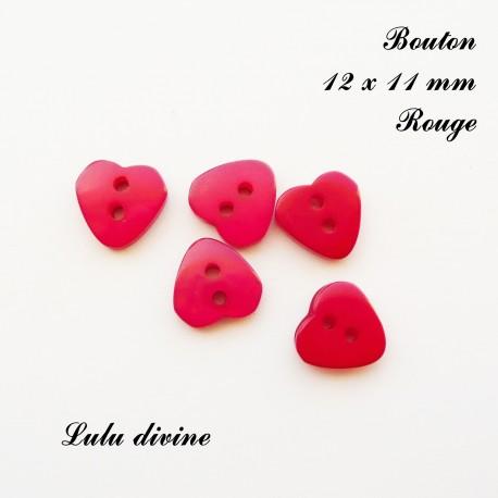 Bouton Coeur 12 x 11 mm