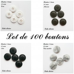 Bouton Rond 18 mm, 100 boutons