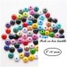 Perle en bois Lentille 10/5 mm (Lot de 50 perles)