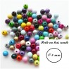 Perle en bois Ronde 8 mm (Lot de 50 perles)