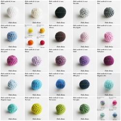 Perle en crochet Ronde Ø 25 mm
