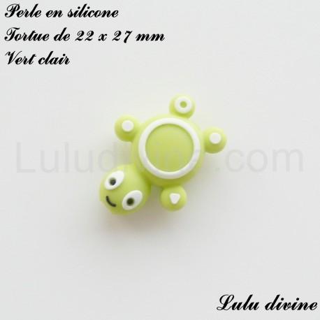 Perle en silicone Tortue